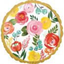 Bright Florals, Virágok Fólia lufi 43 cm