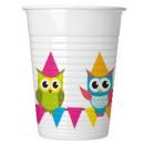 Owl, Owl Plastic cup 8 pcs 200 ml
