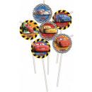 mayorista Otro: Disney Cars,  coches de paja, 6-piezas