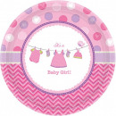 wholesale Gifts & Stationery: Baby Girl Paper tray 8 pcs 17.7 cm