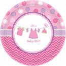 Baby Girl Paper tray 8 pcs 17.7 cm
