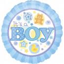 Großhandel Geschenkartikel & Papeterie: Baby Boy Folienballon 43 cm
