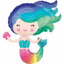 Mermaid, Mermaid Foil Balloons 76 cm