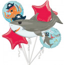 Ahoy Birthday Foil Balloons Set 5 Pieces