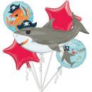 Ahoy Birthday Foil-ballonnen 5-delig