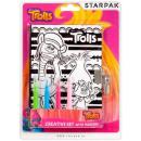 Trolls Colorable velvet diary with felt-tip pens