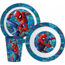 Spiderman tableware, micro plastic set