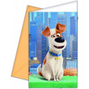 wholesale Other: The Secret Life of  Pets Party Invitation 6 pieces