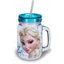 Szívószálas bögre, Disney Frozen, Jégvarázs 400 ml
