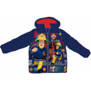 Sam is a firefighter kid in a lined jacket for 3-8