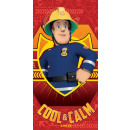 Fireman Sam , Sam in firefighter bath towel, towel