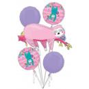Sloth, Lajhar Foil Balloons Set of 5