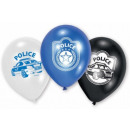 Police balloon, balloons with 6 pieces