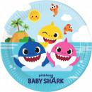 Talerz papierowy Baby Shark 8 szt. 23 cm FSC