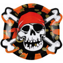 Pirate, Pirate Paper Plate 6 pcs 23 cm