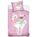 Llama bed linen cover is 140 × 200 cm, 70 × 90 cm