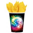 Disco Fever paper cup 8 pcs 266 ml