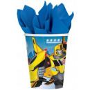 Transformers papieren beker 8 stuks 266 ml