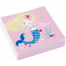 Mermaid, Mermaid napkin 20 pieces, 24.7 * 24.7 cm