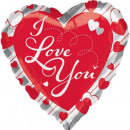 Ich liebe dich, ich liebe Folienballons 43 cm