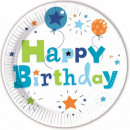 groothandel Stationery & Gifts: Happy Birthday  Jongen Plaat van het Document 8-del