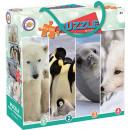 wholesale Puzzle: Animal puzzle 4x100 pieces