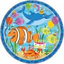 grossiste Plats: Océan, plaque de  papier Ocean 8 pièces 22,9 cm