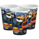 Blaze , Flame paper cup 8 pieces 266 ml