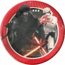 wholesale Party Items: Star Wars Justice, Paper plate 8 pcs 23 cm