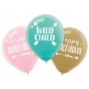 Happy Birthday Ballon mit 6 Ballons