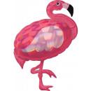 Hologram Flamingo, Flamingo folie ballonnen 83 cm