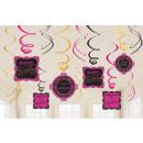 wholesale Decoration: Happy Birthday Ribbon Decoration 12 Piece Set