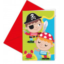 Pirates Treasure Hunt, Pirate Invitation Card with