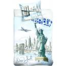 grossiste Linge de lit & Matelas: New York linge de  lit 140 × 200cm, 70 × 90 cm
