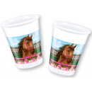 Horse, The Horses  Plastic cup 8 pcs 200 ml