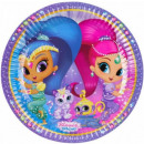 Shimmer and Shine Paper Plate with 8 pcs 23 cm