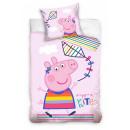 Świnka Peppa Pościel dziecięca 100 × 135 cm, 40 ×