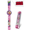 DisneyMinnie horloge met analoge stoffen band in d