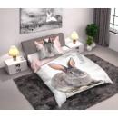 Großhandel Bettwäsche & Matratzen: Häschen 140 ×  200cm Leinen, 70 x 90 cm