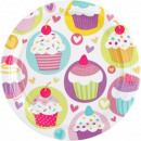 wholesale Casserole Dishes and Baking Molds: Cupcake, Muffin Paper plate 8 pcs 23 cm