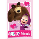 Masha and the bear Fleece Duvert 100 * 150cm