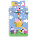 Peppa pig bedding cover is 140 × 200 cm, 70 × 80 c