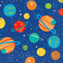 Space, Space Napkin with 16 pieces, 24.7 * 24.7 cm