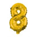 Óriás 8-as Gold szám Fólia lufi 85 cm