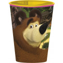 Masha and the Bear glass, plastic 260 ml