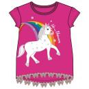 Emoji Unicorn Kids kort t-shirt, top 3-8 jaar