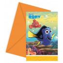 Disney Nemo i Dory zaproszenie strona 6 sztuk