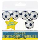 calcio Happy Birthday candelabro 6 pezzi