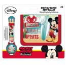 Montre numérique + portefeuille Disney Mickey