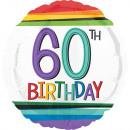 nagyker Ajándékok és papíráruk: Happy Birthday 60 Fólia lufi 43 cm